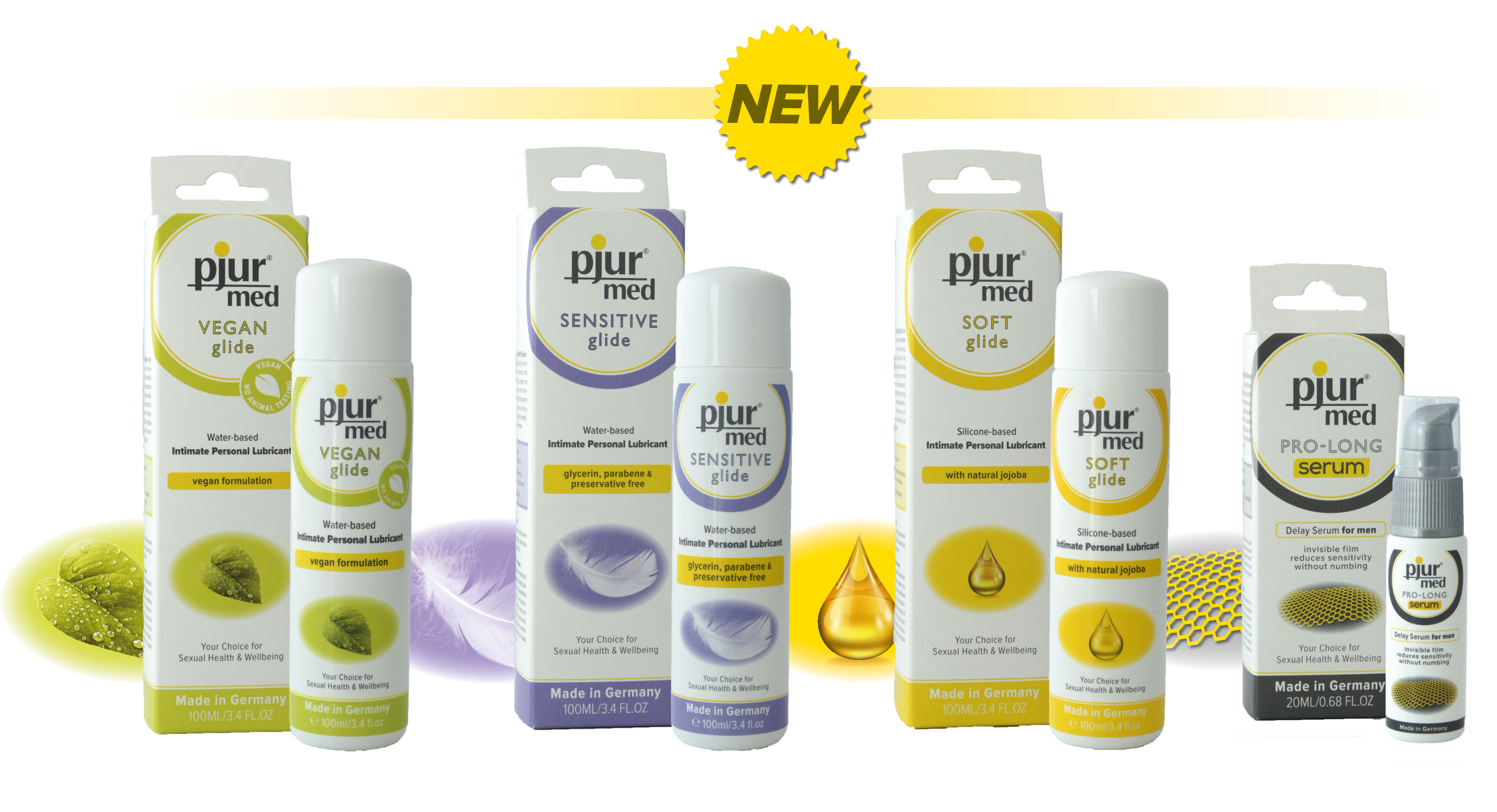 Four new pjur med products for growing target groups